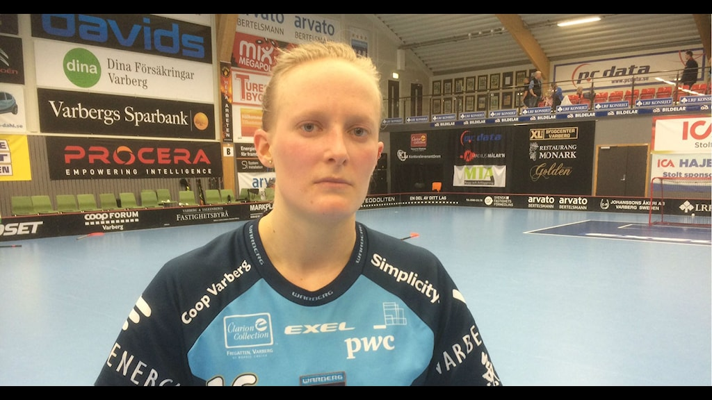 Camilla Halldén i Warbergs IC. Foto:Patric Ljunggren/Sveriges Radio