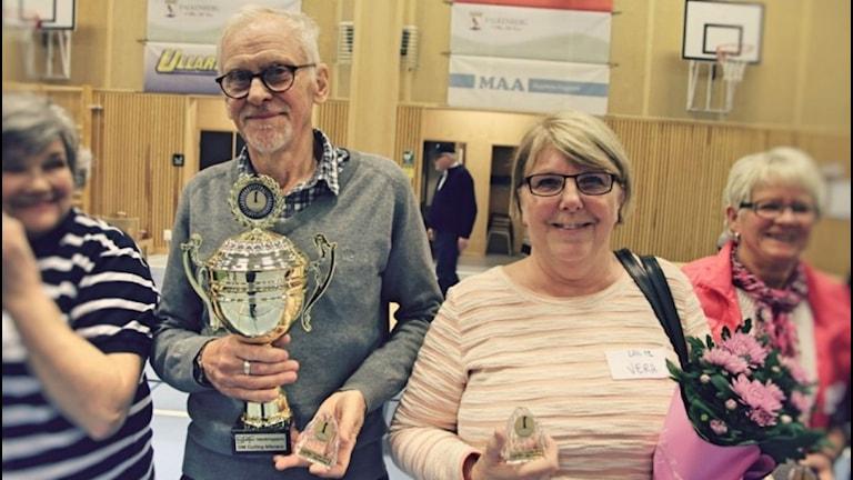 Vera Gemrud och Kjell Carlsson vann SPF:s distriktsmästerskap. Foto: Privat.