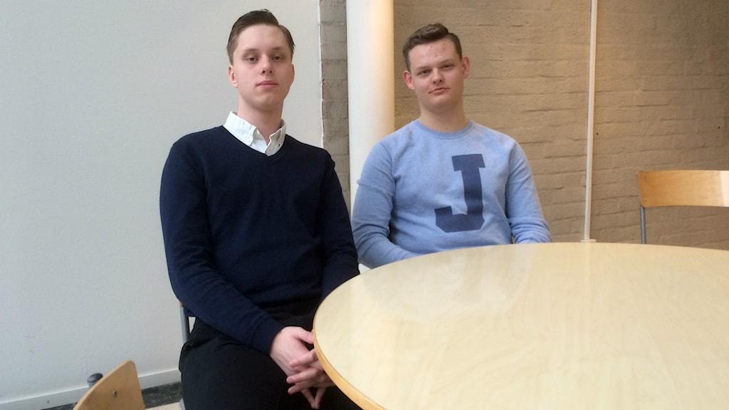 Anton Hagen och Victor Bengtsson laddar för riksfinalen i Malmö.