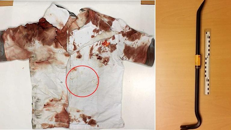 Kvinnan slogs med kofot – av sin arbetsledare – i det uppmärksammade rånet.