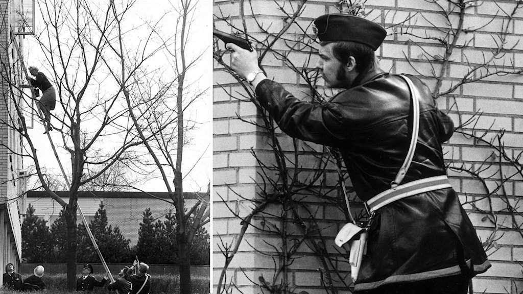 Tre personer dödades när Baader Meinhof- ligan sprängde västtyska ambassaden i Stockholm 24 april 1975.