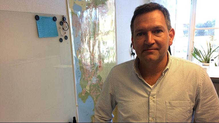 Jonas Da Silva är avdelningschef inom samhällsutvecklingskontoret i Varberg