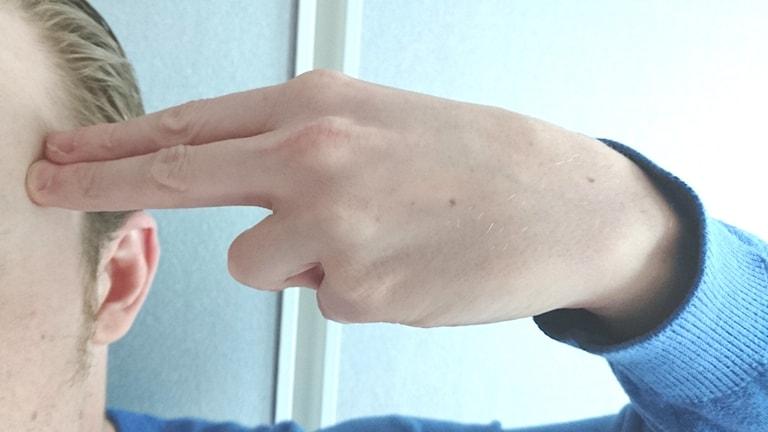 Formade handen till en pistol - döms.
