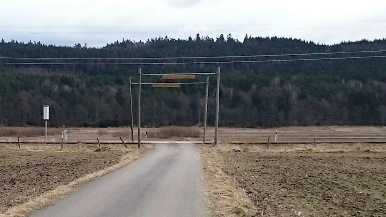 Övergång järnväg, plankorsning, obevakad övergång