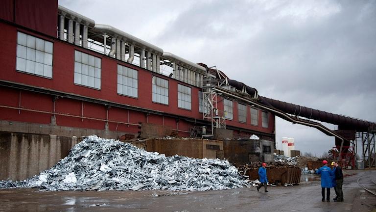 Höganäsfabriken i Halmstad. Foto: Björn Lindgren/TT.