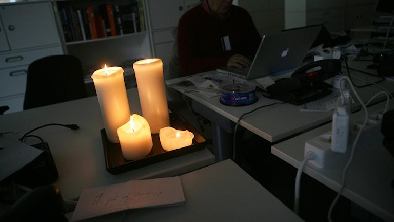 Ljus i mörker.