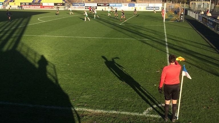 Matchen mellan Böljan och Assi i Elitettan.