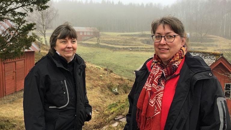 Anneli Olsson och Ylva Sass arbetar med skyddade områden på länsstyrelsen .