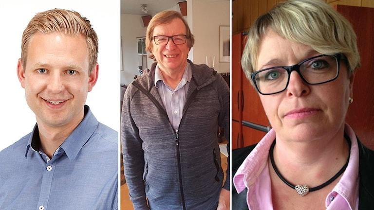 Per Svensson (S) Lars Fagerström (L) Mari-Louise Wernersson(C)