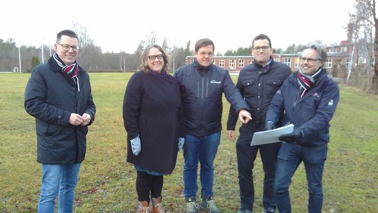 Från vänster Rolf Bengtsson, Anna Roos, Marcus Johansson, Ronny Löfqvist och Thomas Pilen Pilqvist