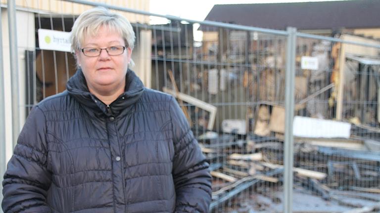 Anneli Noaksson blev vittne till branden i Fyllinge.