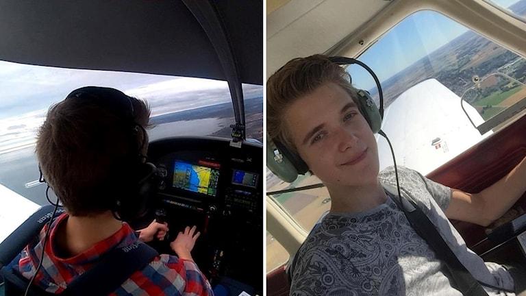Edvin Vitkevicius är bara 17 år men redan pilot.