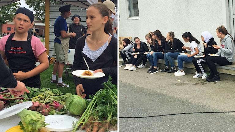 På Tångaskolan i Falkenberg ska eleverna lära sig att äta mer grönsaker.
