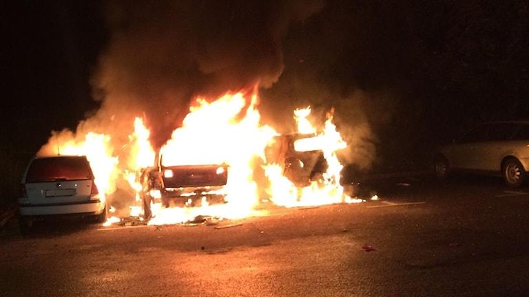 Bilbranden på Strandvallen på Vallås.