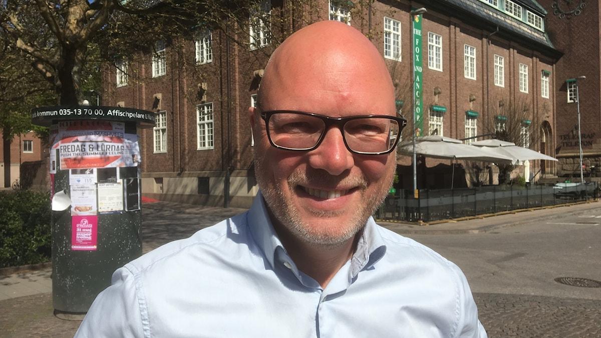 Jörgen Warborn (M), halländsk parlamentskandidat i EU-valet 2019.