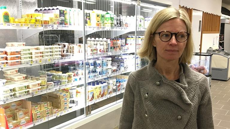 Camilla Bengtsson är handlare i Skällinge.