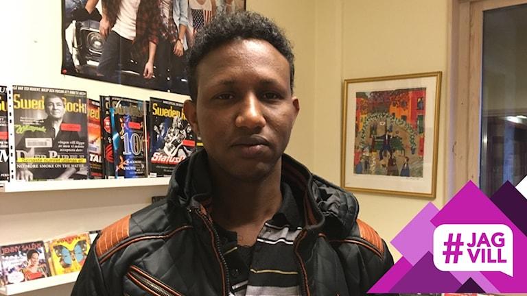 Abdinoor Mohamed Ali vill att det ska gå fler bussar mellan Hyltebruk och Unnaryd på helgen.