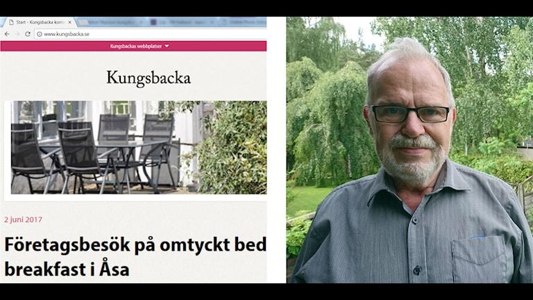 Folke Johansson och skärmdump