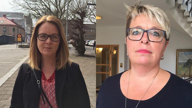 Jennie Nilsson (S), riksdagsledmot från Hylte och Mari-Louise Wernersson (C), kommunstyrelsens ordförande i Falkenberg som kandiderar till riksdagen.