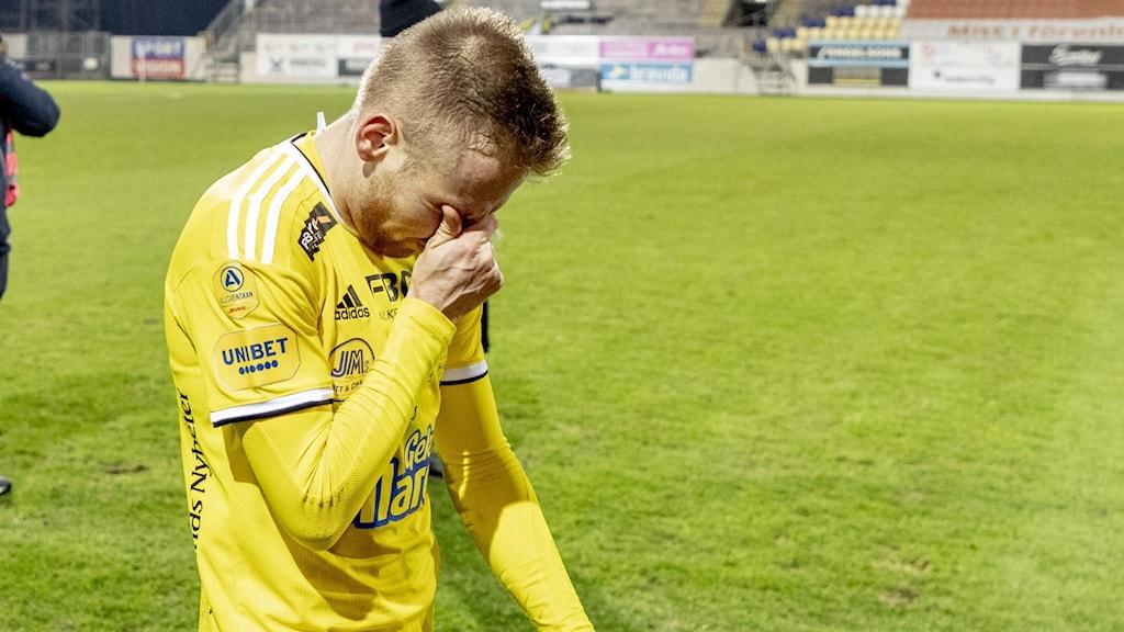 Tobias Englund och hans Falkenberg tappade sin 0-1 ledning mot Landskrona. (Arkivbild)