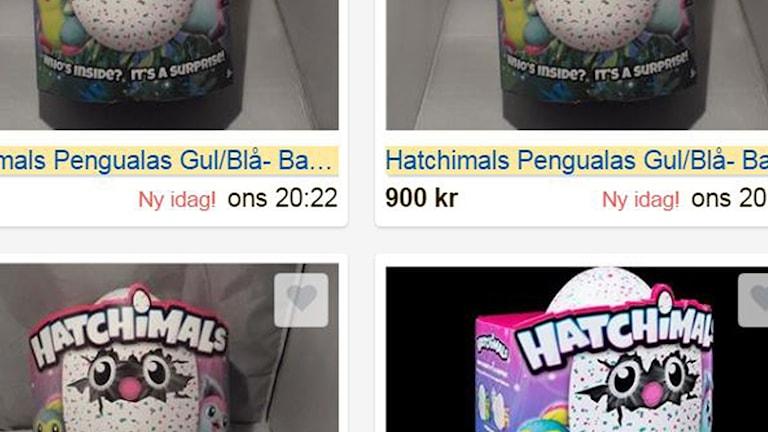 Hatchimals går att hitta på köp- och säljsajter.
