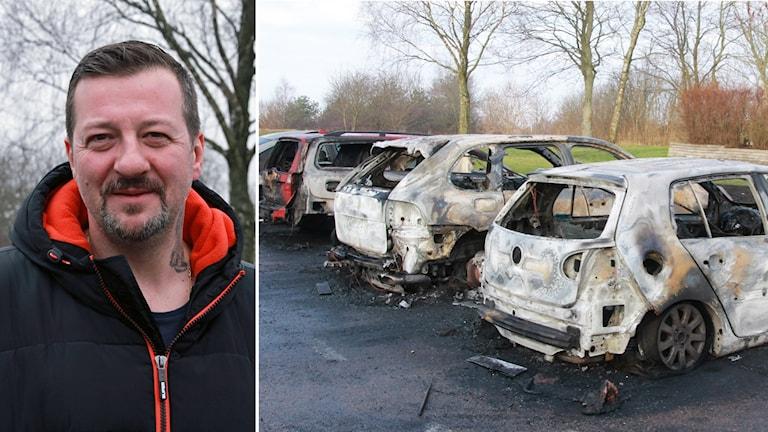Danial Jahic larmade om branden i Lilla Tjärby utanför Laholm.