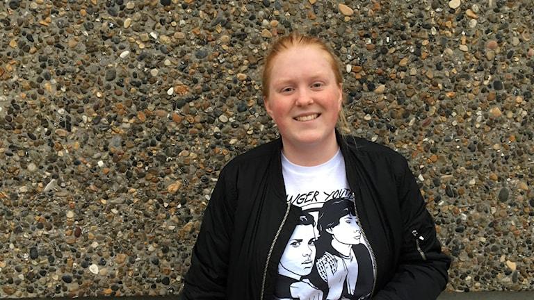 Tilda Andersson är initiativtagare till den nya musik - och kulturfestivalen We are one i Varberg. Foto: Casper Sewerin/Sveriges Radio