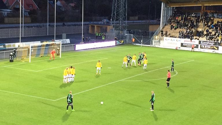 Falkenberg vs GAIS i superettan i fotboll. Foto: Patric Ljunggren/ Sveriges Radio