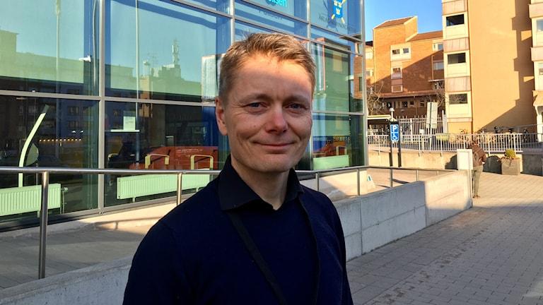 Peter Hejdström, chef på polisens utredningssektion i Halmstad.