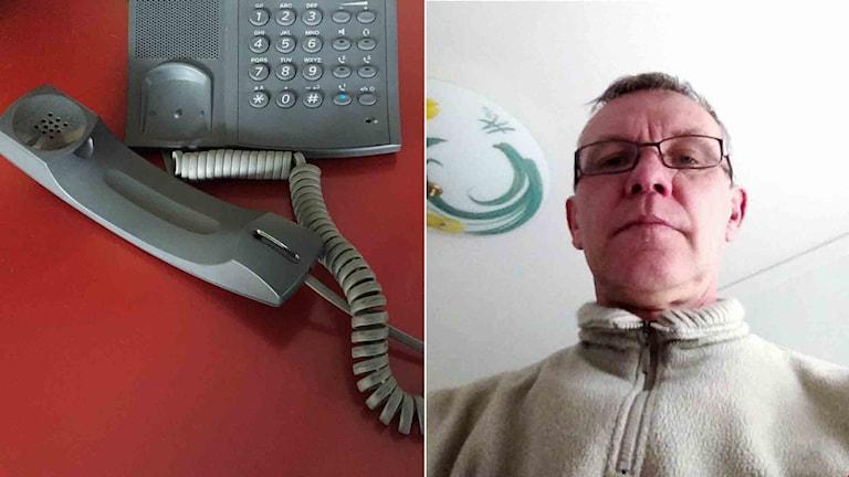 Tomas Erheden fastnade i telefonkö hos polisen när han skulle anmäla inbrottsförsöket på sin minigolfbana.