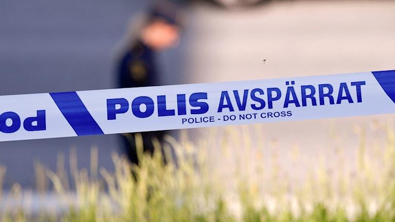 Polisavspärrningsband. Foto: Johan Nilsson/TT.