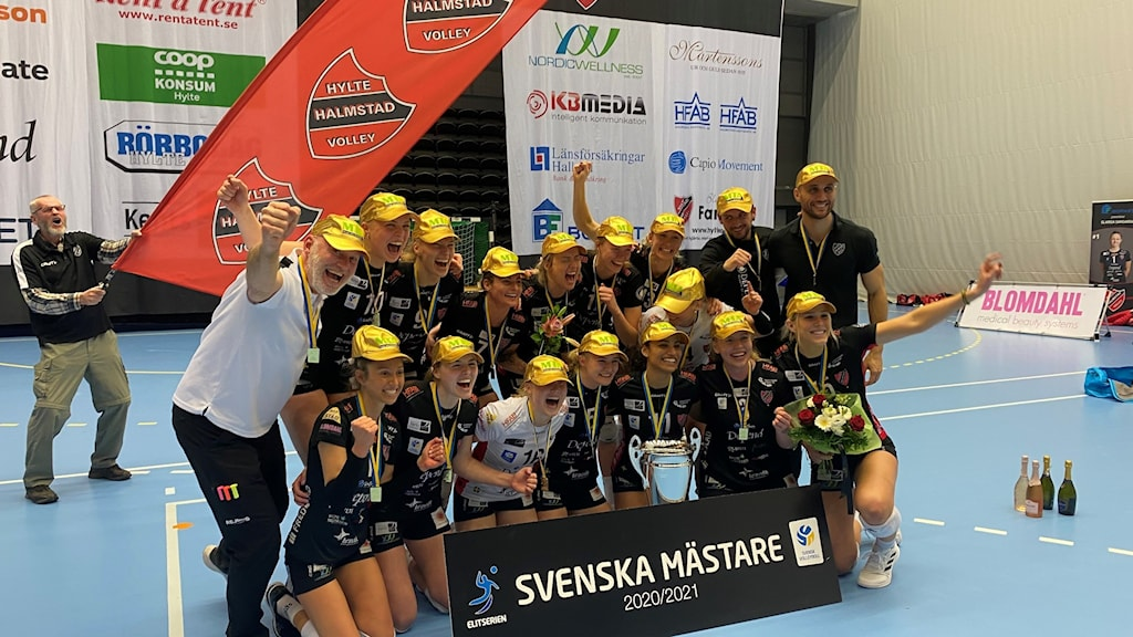 Hylte/Halmstads damer svenska mästare i Volleybol