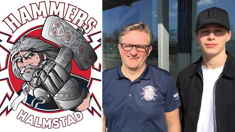 Halmstad Hammers logotyp/Fredrik Johansson, Hampus Johansson