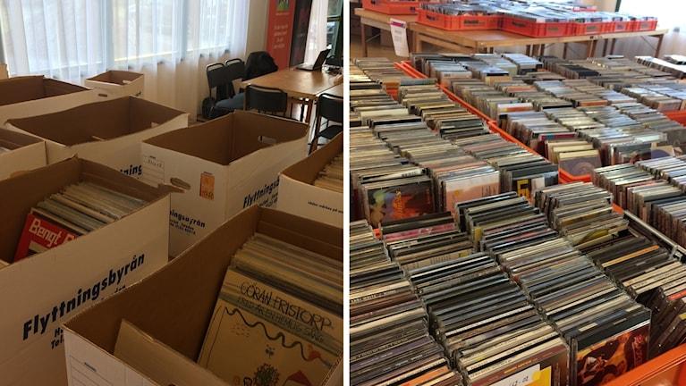 skivor, cd,
