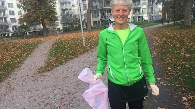 Susanne Johansson, ledare och domare för ploggingloppet.