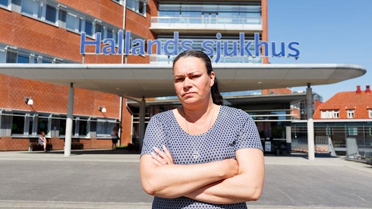 Camilla Tellström, vårdförbundets ordförande i Halland. Foto: Anders Andersson/TT.