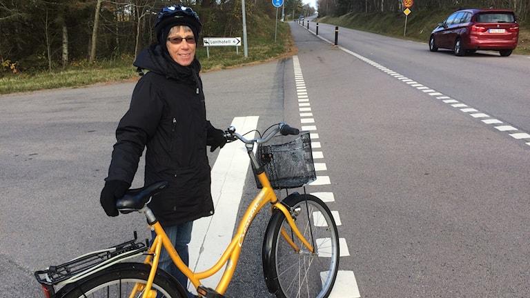 Margareta Levin, cyklist i Mellbystrand.