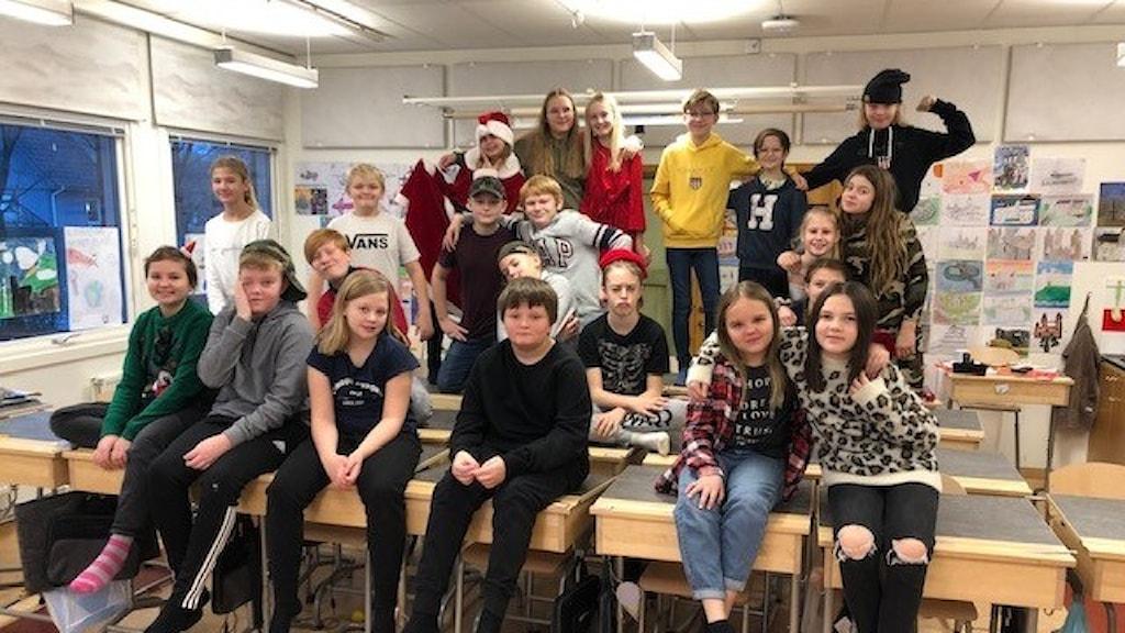 Lyngåkraskolan klass 5.
