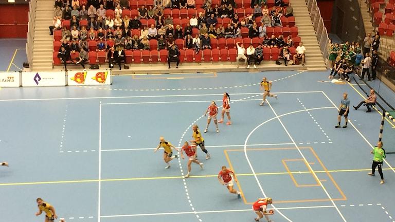 HK Drott vs Kärra i allsvenskan i handboll. Foto: Patric Ljunggren/Sveriges Radio