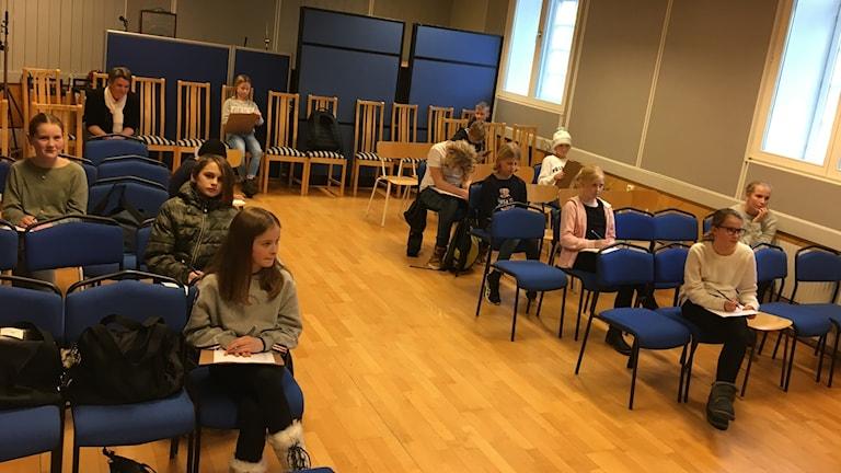 Förutom slutpoängen i finalen fick hela klassen svara på frågor enskilt för att bidra med poäng till riksuttagningen.