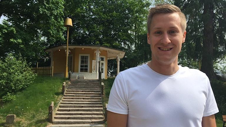 Bordtennisspelaren Mattias Karlsson, som tog SM-guld med Halmstad BTK igår.