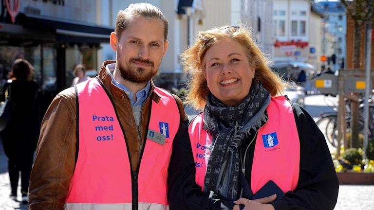 Jonas Nyman, samordnare Grannsamverkan och Malin Eliasson, samordnare BRÅ