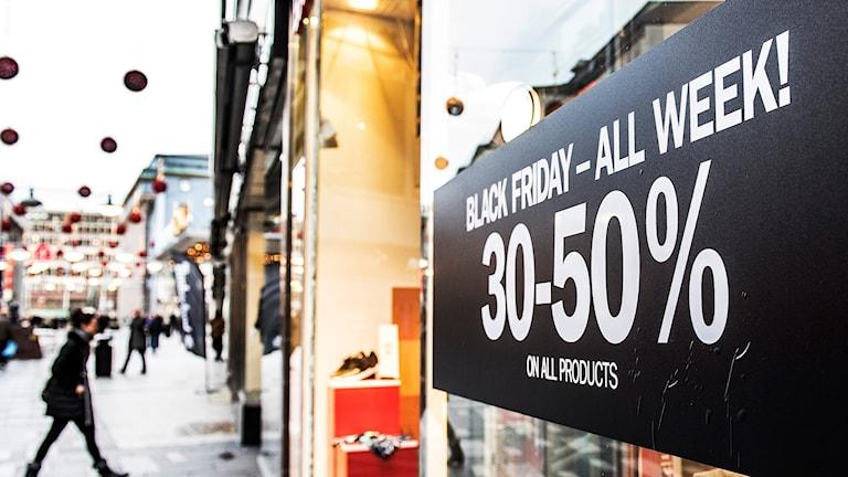 Black Friday-handel, TT-bild