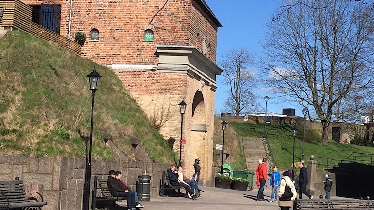 Befästningskullen Bastionen i Halmstad.