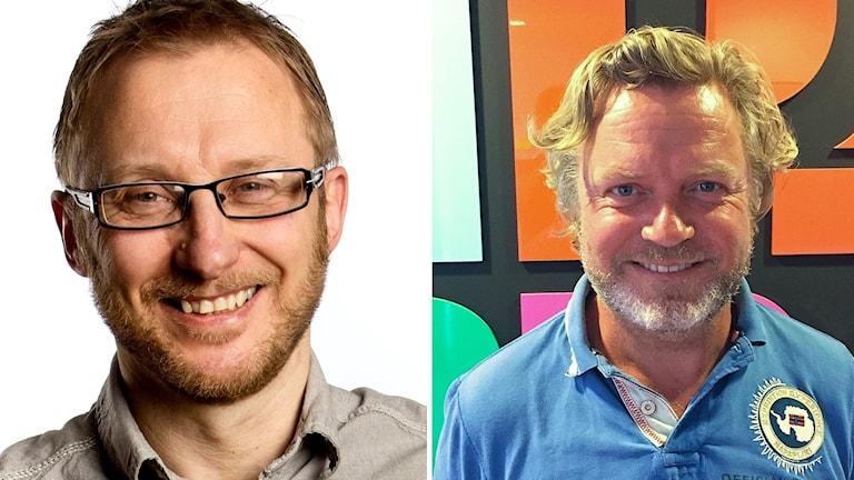 Bengt Johansson är professor i journalistik. Johan Staël von Holstein är företagsledare från Halmstad.