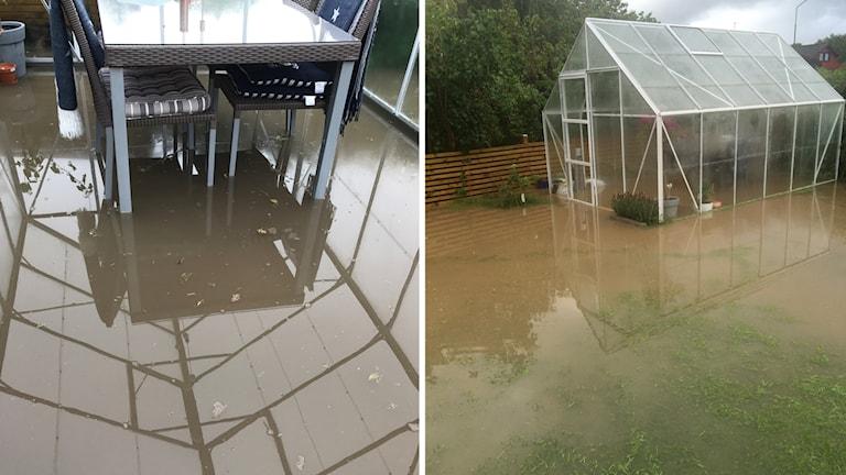 översvämmat i Trönninge