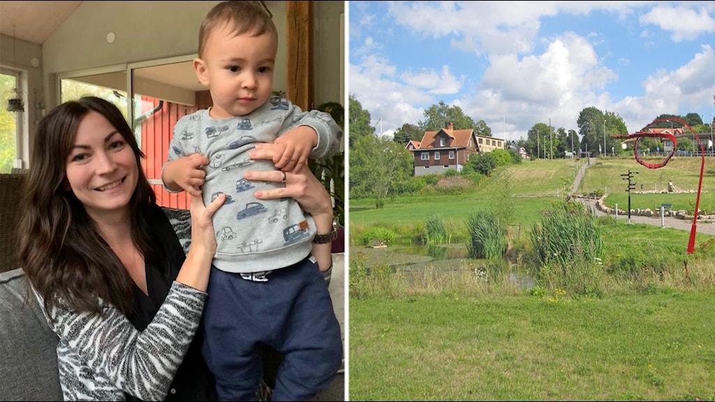 Emma Axelsson var hemma med sitt barn när hon kände av jordskalvet i Vessigebro.