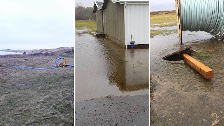 översvämningar i Olofsbo
