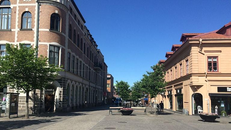 Varbergs stadskärna. Foto: Daniel Gustafsson/Sveriges Radio.