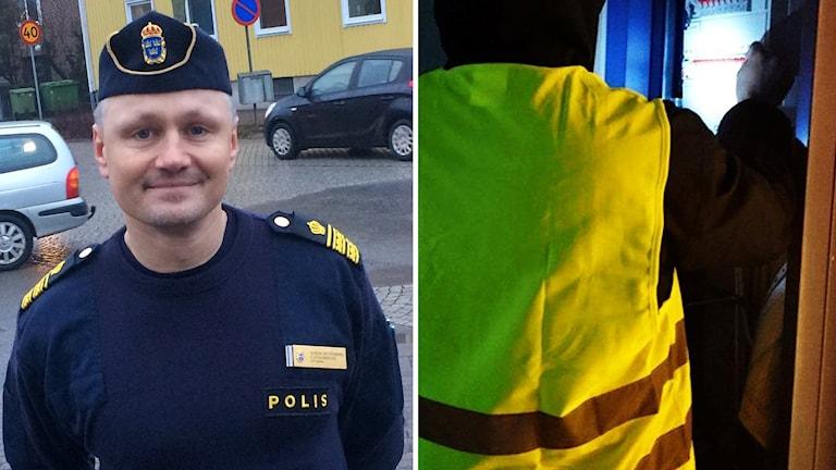 Gustav Zetterberg, polis i Varberg, reflexväst split